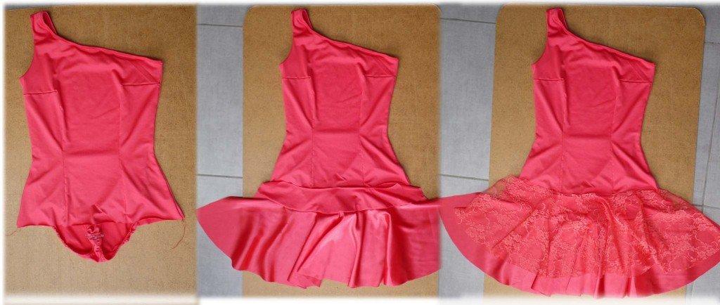 Ajout de 2 volants sur la robe de danse latine Robe-latine-ajout-jupe-1024x434