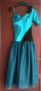 robe turquoise devant